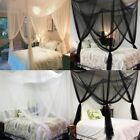 4 Corner Post Bed Canopy Mosquito Net Netting Black Full Queen King Decor image