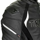 TRIUMPH LEATHER TRIPLE MOTORCYCLE JACKET MLPS20530 ALL SIZES £438.0 GBP on eBay