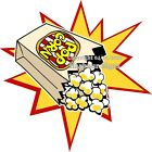 Popcorn DECAL Choose Your Size Starburst Concession Food Truck Sticker