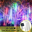 50CM Solar LED Meteor Shower Falling Rain Drop Icicle Xmas Tree String