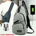 Men Travel Backpack Outdoor Sport Crossbody Shoulder Bag Usb Charging Chest Pack