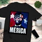 Merica Abe Lincoln America Murica Funny 4th of July T-Shirt