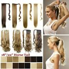 curly hair extensions wrap around ponytail hairpiece long straight horse tail