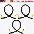 Kyпить 3/6 Pcs 30cm Gold-Plated Right Angle Guitar Effects Pedal Patch Cable US на еВаy.соm