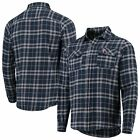 Minnesota Twins Antigua Flannel Button-Up Shirt - Navy/Gray on Ebay