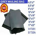 GREY STRONG MAILING MIXED BAGS PLASTIC POSTAL MAIL POSTAGE POLY 10, 25, 50, 100