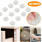 100/200Pcs Clear Hemispherical Bumpers Rubber Feet Pads Adhesive for Furniture