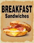 Breakfast Sandwiches DECAL (CHOOSE YOUR SIZE) V Food Truck Concession Sticker