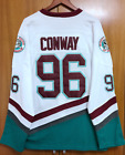 Mighty Ducks Ice Hockry Jerseys #96 Charlie Conway Ice Hockey Jersey Stitched 。-