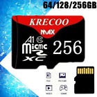 Ultrathin 256GB Micro Memory Card TF Flash 108MB/S Fast Camera Phone Car Adapter