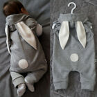 FixedPricenewborn kids baby clothes girl boy rabbit ear romper jumpsuit bodysuit outfits