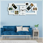Photo Wall Clocks Hanging Multi Picture Frame Love Family Home Friends MDF