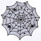 Black Lace Spider Web Round Table Topper Table Runner Halloween Home Table Decor