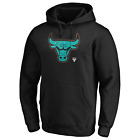 Chicago Bulls Men's NBA Iconic Pastel Basketball Pullover Hoodie - New