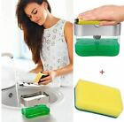 Soap Pump Dispenser & Sponge Holder Dish Soap Liquid for Kitchen And Bathroom