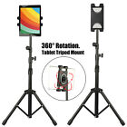 Adjustable Height Tablet Floor Stand Foldable Tripod Mount Holder For iPad Phone