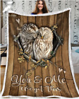 OWL - Wedding Anniversary - You and me We got this Fleece Blanket