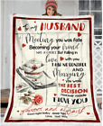 NURSE - To my Husband - Meeting you was fate Fleece Blanket