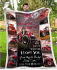 Farmer - Tractor - Wedding Anniversary - To my Wife - Destiny Fleece Blanket