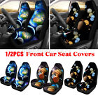 1/2Pcs Car Front Seat Cover Galaxy Planet Print Fabric Cases Protector Universal $16.03 CAD on eBay