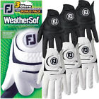 FootJoy Mens Weathersof 3 Pack Golf Gloves Left Hand (Right Handed Golfer)
