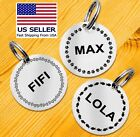Custom Engraved Dog Tag Pet ID Funny Cat Tags Double Sided Personalized Silent