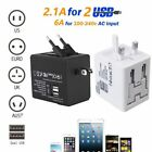 Universal All In One Travel Adapter Plug Converter 2.1A Dual USB Plug Socket