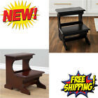 Modern Wooden Bed Steps Ladder Bedroom & Kitchen Furniture High Stair Stool NEW