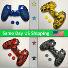 Camouflage Silicone Skin Case Gel Cover Grip for Playstation 4 PS4 Controller