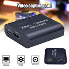 UK HDMI Video Capture Cards Screen Record USB2.0 1080P 60FPS Game Capture Device