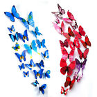 12pc 3d Butterfly Magnet Wall Sticker Colorful Diy Fridge Home Party Decoration