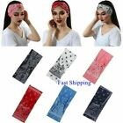 Bandana Headband  Elastic Silky Hairband Women Fashion Yoga Sport Soft Head Wrap