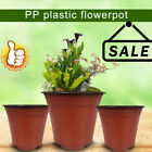 Plastic Plant Flower Pots Nursery Garden Seedlings Start Pot Container Red Black