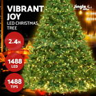 Jingle Jollys Christmas Tree LED Fibre Optic Xmas Decoration Pre Light Outdoor