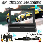4.3″ Car Wireless TFT LCD Monitor IR Rear View Reverse Parking Backup Camera + picture
