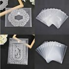 Cutting Die Clear Stamp Magic Sticker Storage Bags Velcroing Pockets 10 Pcs/Set