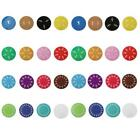 15/32Pcs Colorful Montessori Demonstration Fraction Circles Counting Boards