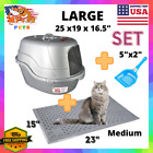 Enclosed Covered Cat Litter Box With Lid, Scoop  Mat Medium/Large/XL Jumbo US