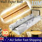 Luxury Embossed Wallpaper Non-woven 3d Wall Paper Roll Decor Gold/silver 10m