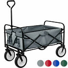 Foldable Hand Cart Pull Wagon Garden Trolley Trailer Transport 80kg Load New