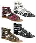 Spot On Gladiator Flat Snake Skin Syle Zip Summer Sandals Womens UK3-8