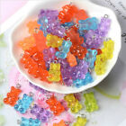 50pcs/set Gummy Bear Candy Charms Necklace Pendants Diy Earrings Jewelry Gift