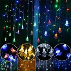 Christmas Curtain Icicle Garland Led String Light 5m 16.4ft Droop 0.4m 0.5m 0.6m