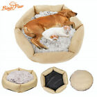 Pet Dog Bed Raised Rim Large Dog Cushion Sofa Lounge Wear-resistant Linen Washab