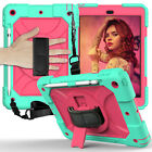 iPad 8th Generation Case 10.2 2019 7th 2020 Silicone 360 Rotating Cover w/ Strap