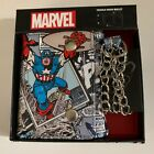 New marvel comics Captain America trifold wallet with key chain collectible set
