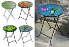 Smart Garden Mosaic Metal Garden Bistro Folding Table Bird Peacock Poppy Daffi