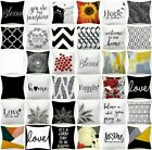 Cushion COVER White Black Soft Double-Sided Decorative Throw Pillow Case 18x18
