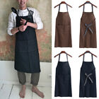 Men Chef Apron Workshop Tool Catering Baking Work Apron Workwear Bib Dress Apron