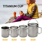 Outdoor Camping Titanium Cup Portable Ultralight Picnic Hiking Cooking Water Mug